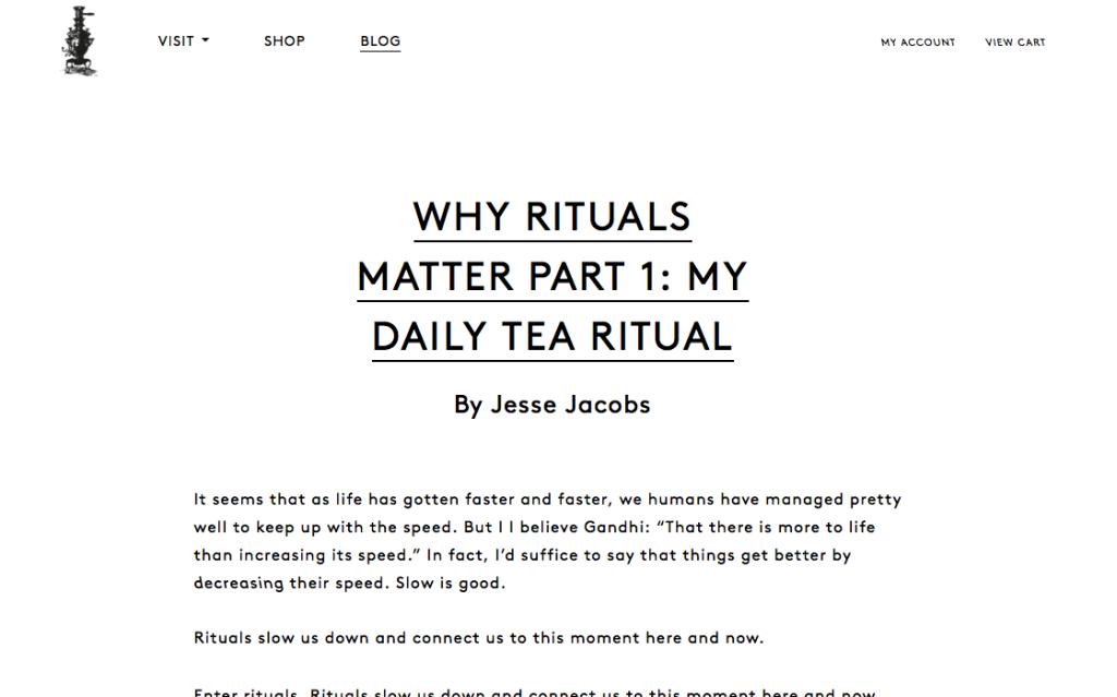 why rituals matter