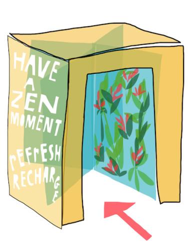 Our ritual design work - zen door card copy