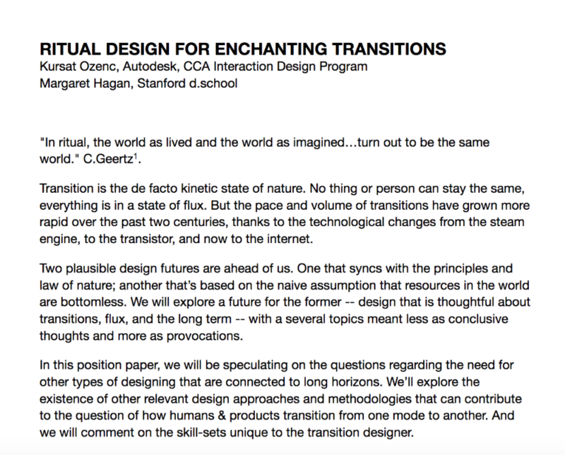 Ritual Design Lab | Bringing meaning into experience